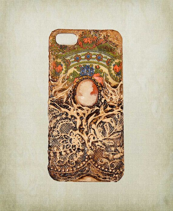 Victorian iPhone 5 case with Handmade Cameo by ShabbyChicToVintage, $55.00