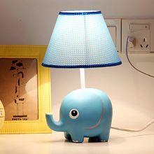 Продвижение Низкой Цене Смолы Малышу Спать Чтения Исследования Настольная Лампа Белье Тени Для Украшения Комнаты малыша 32×18 см Синий Рабочий Стол лампы