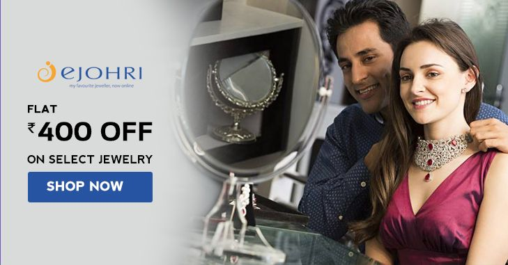 Shop for #Gold #Diamond #Platinum jewellery Online @ Ejohri and get Flat Rs 400 OFF #fashion #jewelry #coupon #couponzeta  #offers