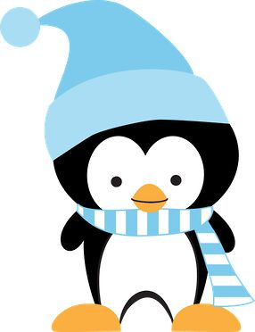 WINTER PENGUIN CLIP ART