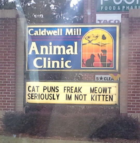 My local vet's street sign…lol