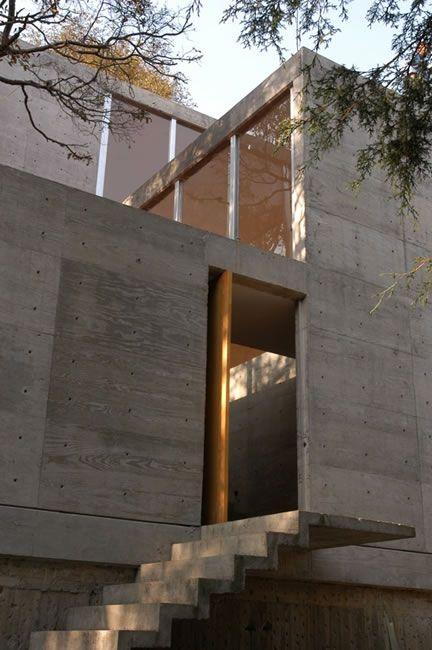 Fachada de concreto aparente