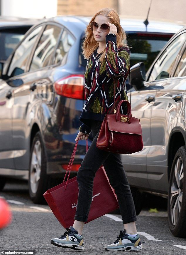 0cccbda5bf9 Shopping  Ellie Bamber was spotted going on a solo shopping spree in east  London on Monday.