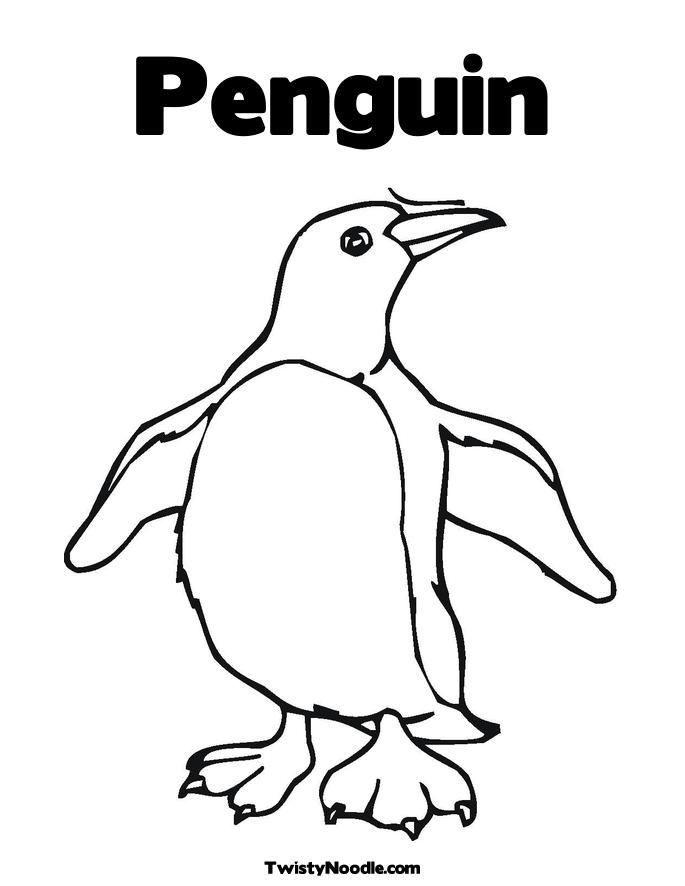 preschool penguins coloring pages - photo#23