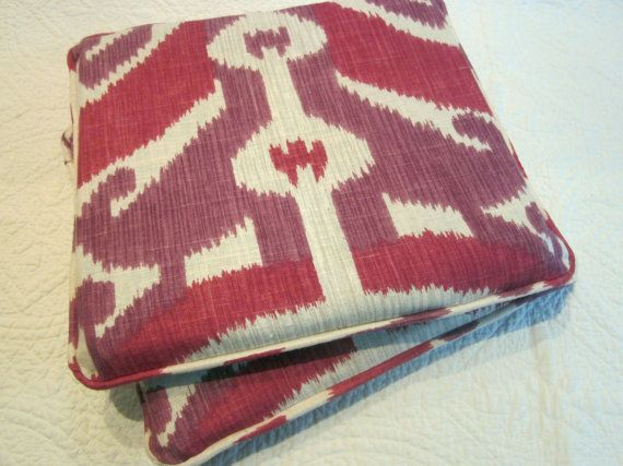 2 Chair Cushions 14 X Bubble Gum Ikat By NewhookDesign On Etsy 9000