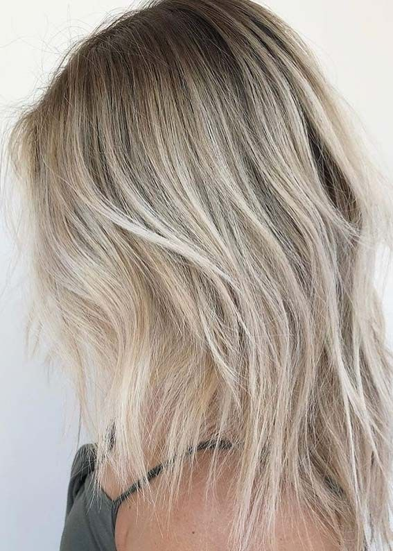 Here We Have Put Together Our Best Shades Of Melted Blonde Hair Colors For Women With Long And Medium L Blonde Hair Color Hair Styles Medium Length Blonde Hair