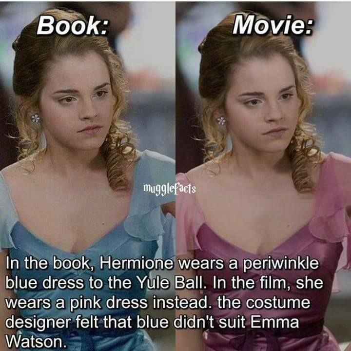 They are right, the pink looks better. Everyone complains about the movie inaccuracies, but I think they did a good job