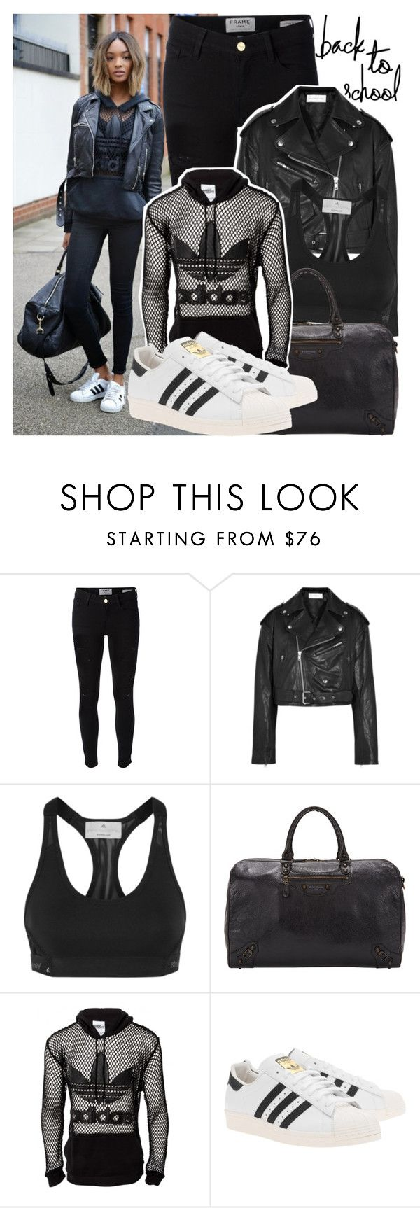 """673. New Shoes: Jourdan Dunn"" by zaandupreez ❤ liked on Polyvore featuring Dunn, Frame Denim, Faith Connexion, adidas, Balenciaga, adidas Originals, BackToSchool, JeremyScott and jourdandunn"