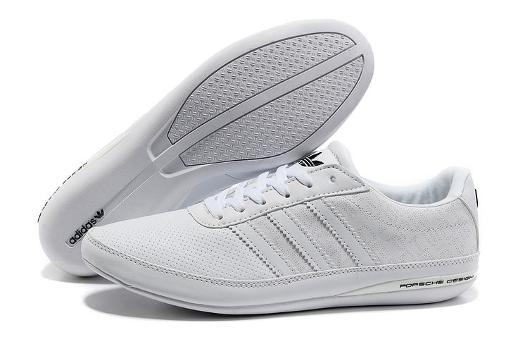 Cheap 2014 New Adidas Porsche Design S3 Men First layer of leather casual shoes in White In UK, online store