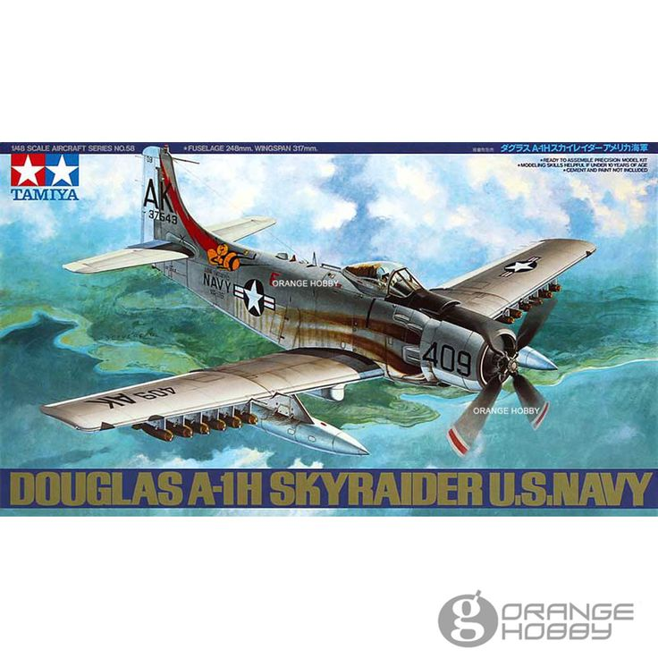 OrangeHobby-font-b-Tamiya-b-font-61058-1-48-Douglas-A1H-SkyRaider-U-S-Navy-Assembly.jpg (1000×1000)