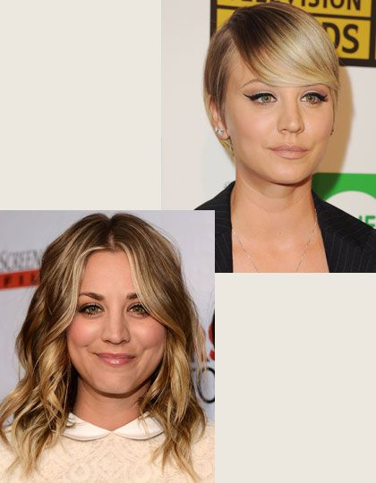 Vorher Nachher Frisuren Kaley Cuoco Frisuren50plus