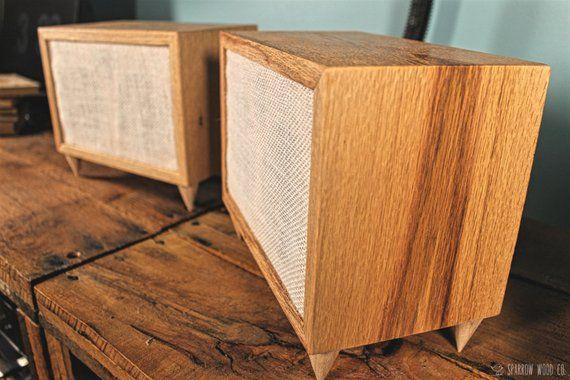 Reclaimed Wood Oak Handmade Bookshelf Speakers Pair Origin Etsy In 2020 Handmade Bookshelves Wood Speakers Reclaimed Wood