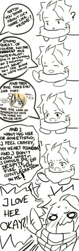 I LOVE HER OKAY?! It's okay Natsu, we know. That's why you need to win this war and marry her. NOW.