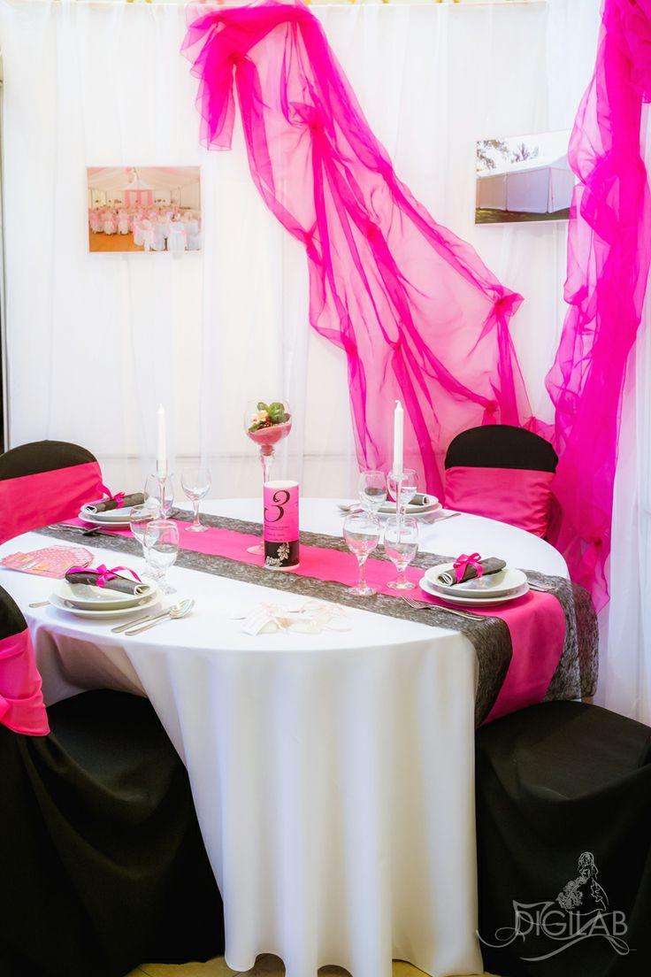 Pink - fehér asztal dekoráció, #eskuvo, #wedding, #dekor, #design, www.digilab.hu