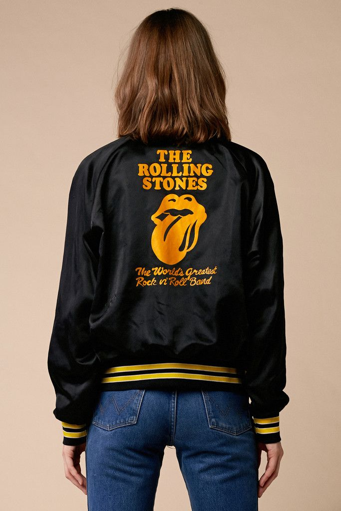 What a sweet jacket! 70's Rolling Stones Crew Jacket from @stonedvintage #vintage