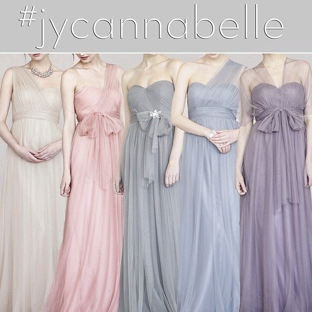 Jenny Yoo Annabelle Dresses in Pretty Pastels! Convertible Bridesmaids Dresses that can be worn at least 15 ways! www.jennyyoo.com