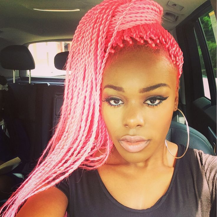 Pink Box Braids, Twist Hairstyles