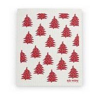 Vaatdoek 'Rode Kerstbomen' - Malin Westberg