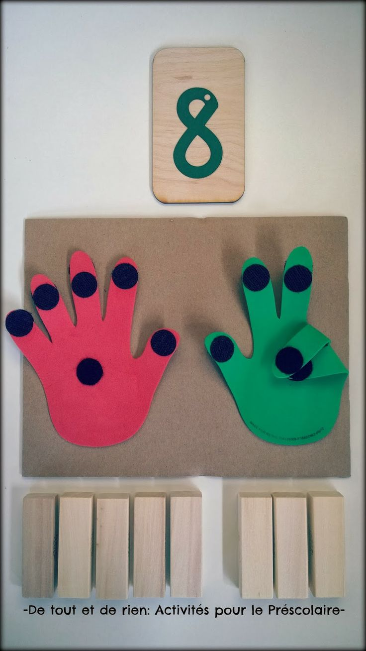 Finger counting tool and game. Great to explore five-ness too!