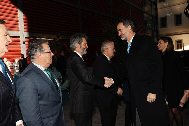 Su Majestad el Rey recibe el saludo del presidente del Tribunal Supremo y del Consejo General del Poder Judicial, Carlos Lesmes    Museo Nacional Centro de Arte Reina Sofía. Madrid, 15.01.2018