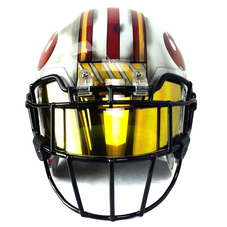 Chrome football visor