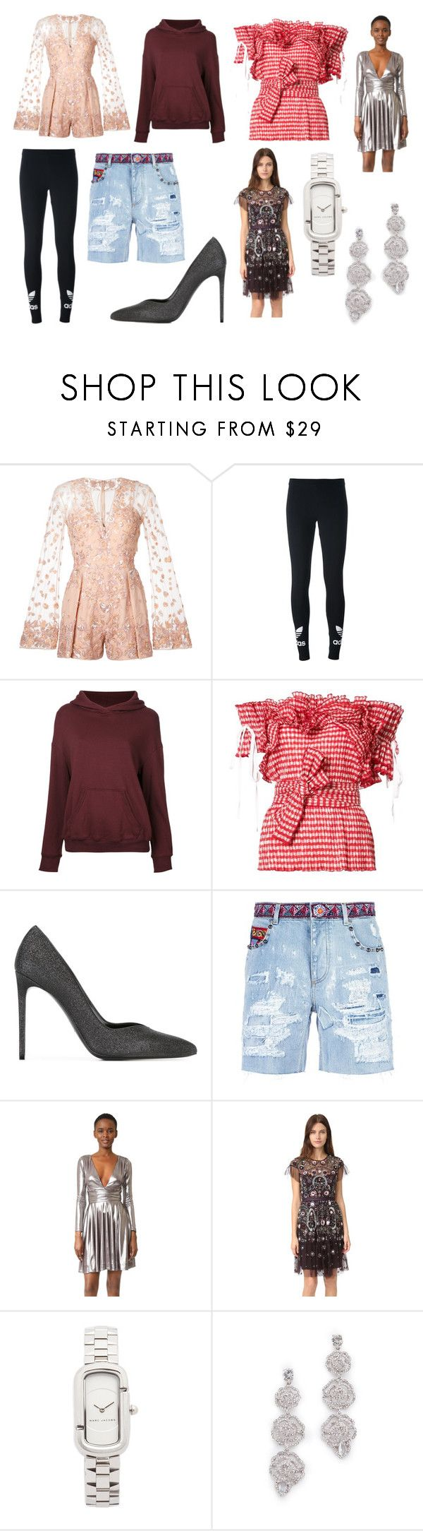 """Hello Fashion"" by donna-wang1 ❤ liked on Polyvore featuring Zuhair Murad, adidas Originals, CITYSHOP, Rosie Assoulin, Yves Saint Laurent, Dolce&Gabbana, Halston Heritage, Needle & Thread, Marc Jacobs and Kate Spade"