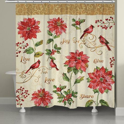Red Christmas Shower Curtain