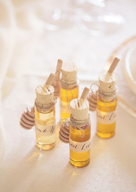 honey wedding favors   photo by This Love of Yours   100 Layer Cake