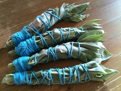 make sage bundles and toss them into the firepit to keep mosquitos away