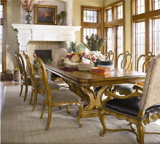 Tuscan Trestle Dining Table And Chair Set Part 29
