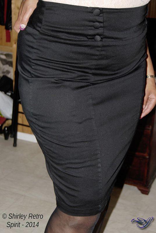 Tight pencil skirt