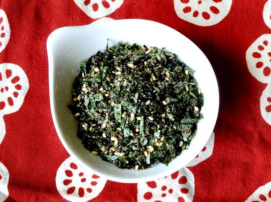 Furikake - Yummy Rice seasoning I used to eat with my Japanese neighbors as a kid. Yum! Roll Onigiri in this!