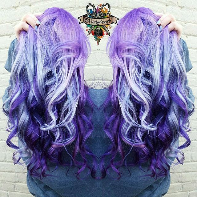 Eye-popping Purple Hair Color design Purple hair colors by @hairbykoh instagram.com/hotonbeauty