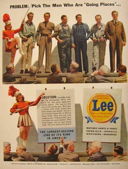 1942 Vintage Lee Jeans & Overalls Ad #leejeans