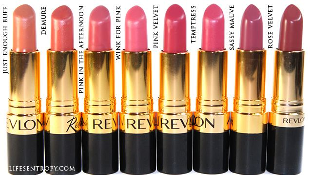 Revlon Super Lustrous Lipsticks Swatches