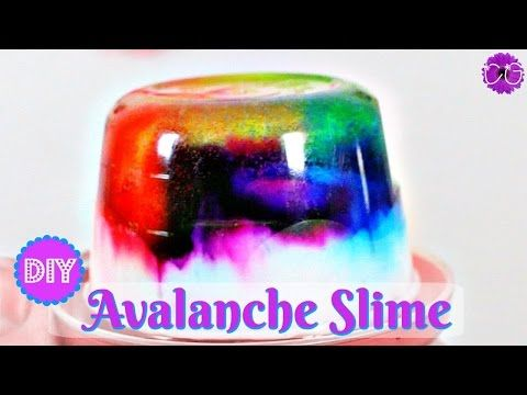 DIY AVALANCHE SLIME! NO BORAX! - YouTube