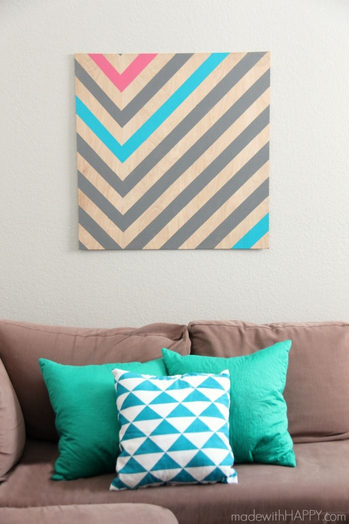 DIY Wall Art - made with HAPPY