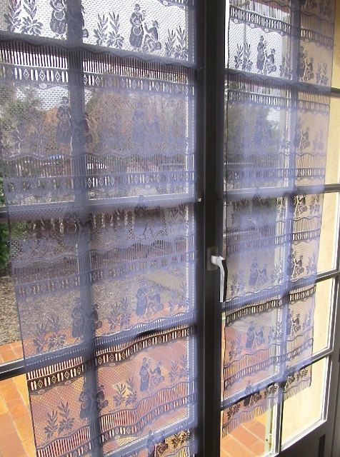 Grey Curtains French Lace Curtains Sheer by HatchedinFrance, $49.00