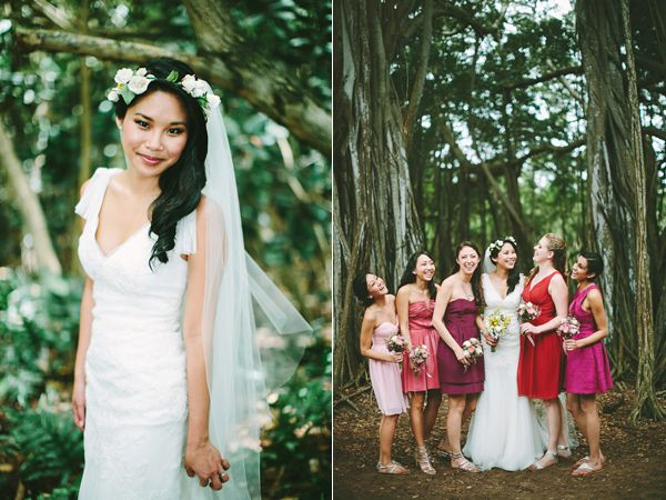 Hawaiian Island wedding featuring my college roommate!!!
