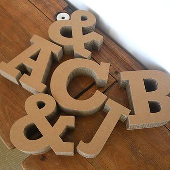 Chunky cardboard letters £7