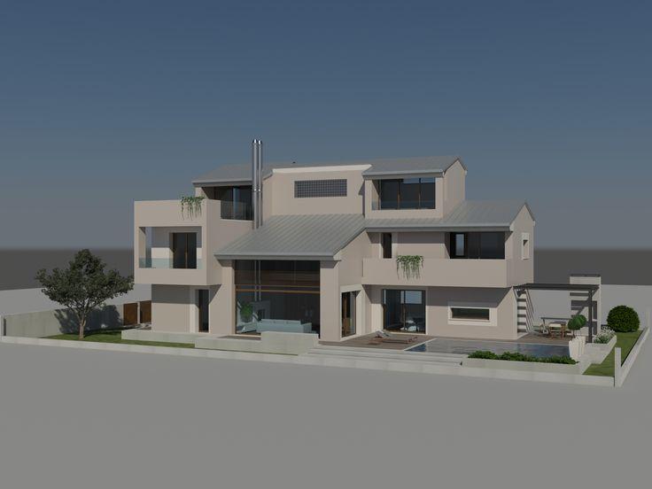Vista da sud del modello 3d - Massimo Rinaldo architetto