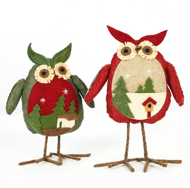 Рождественские Украшения Рождественские Украшения Белье Сова Плюшевые Куклы…