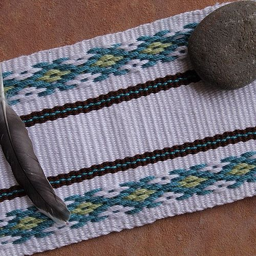 I was really inspired to give this weaving pattern a try after I read the tutorial at Laverne Waddington's Backstrap Weaving blog ( link her...