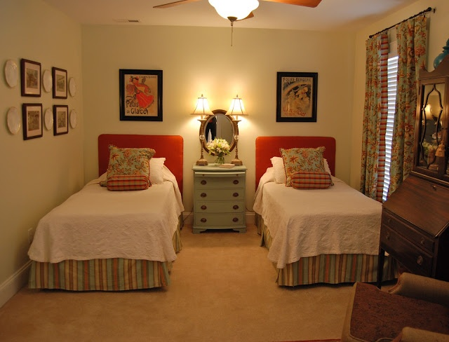 Beautiful guest room before and after