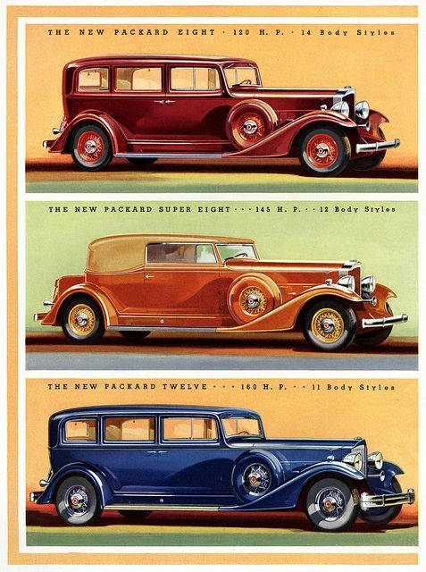 "[1933 Packard models] ""We...got into the  Packard, shining clean and bright... Inside the Packard, the world was a wine-colored luxury. The boys  and I, in the back, ran our hands over the rich felt seats, tenderly fingered the fancy door handles and window knobs, and peered down amazed at the plush carpet...""   /  Get sensory, hands-on activity ideas for ROLL OF THUNDER, HEAR MY CRY by Mildred D. Taylor and 40+ more great books at  http://www.litwitsworkshops.com/free-resources/"