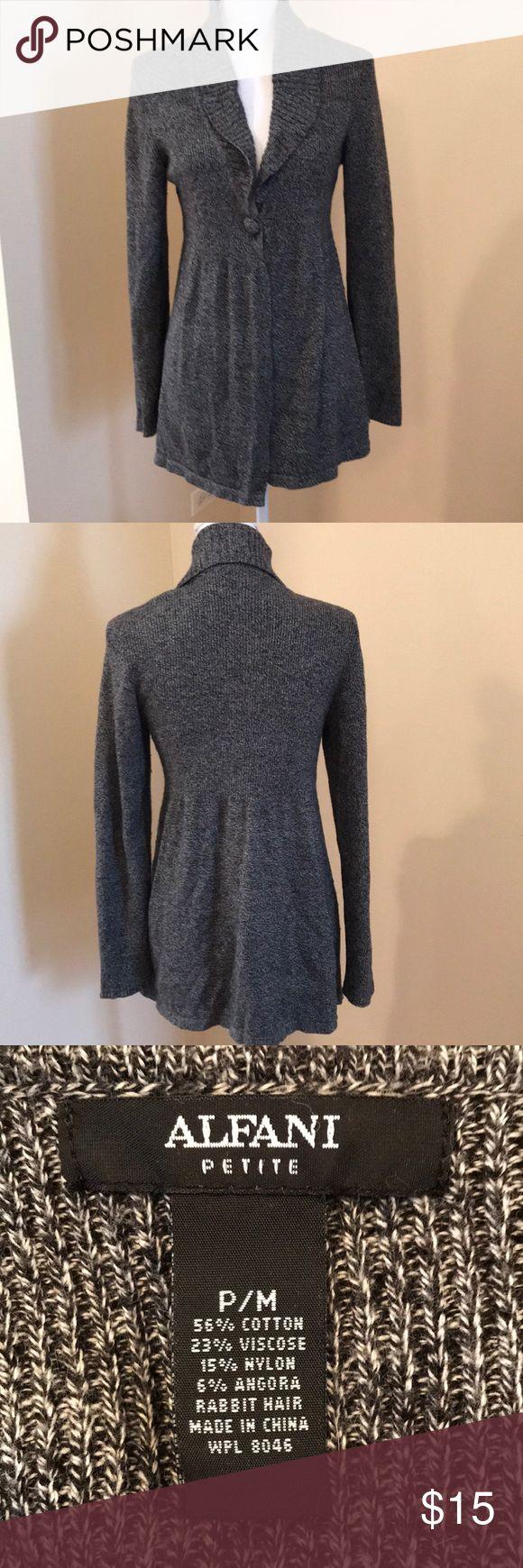 Women's Alfani Grey cardigan Alfani Petite cardigan in good condition Alfani Sweaters Cardigans