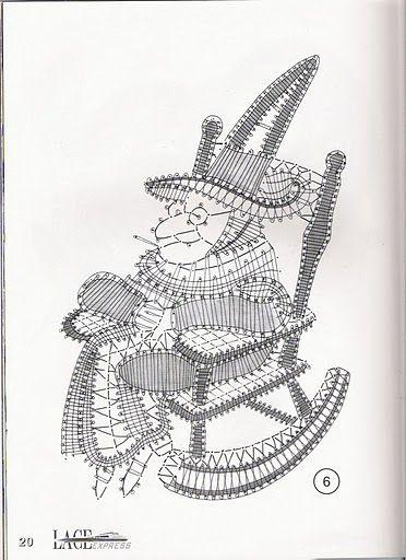 renda de bilros / bobbin lace Bonecos / Dolls