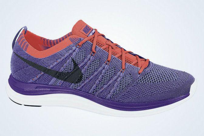 more photos 34de4 88d60 Youth Big Boys Nike Flyknit Lunar 1 Court Purple Medium Violet Bright  Crimson 554888 505