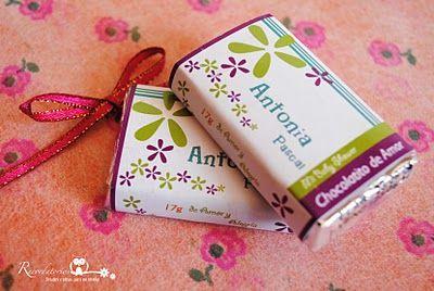 """Recordatorio"" detalles e ideas para no olvidar: Chocolates personalizados"