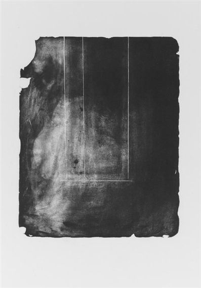 *** Robert Motherwell- For ideas of minimalist geometric layout with prolific expansion through abstracted mark-making.